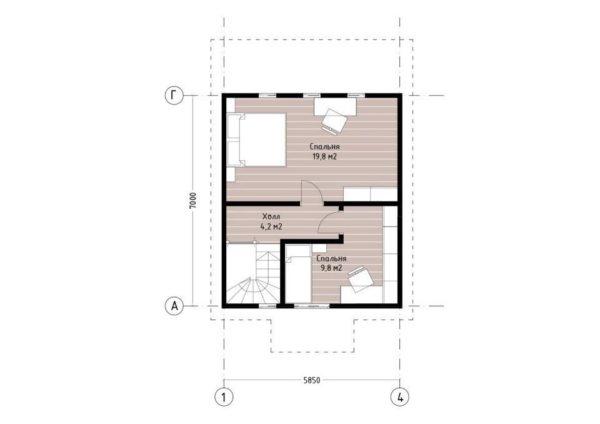 """Двухэтажный дом """"Абердин"""""""