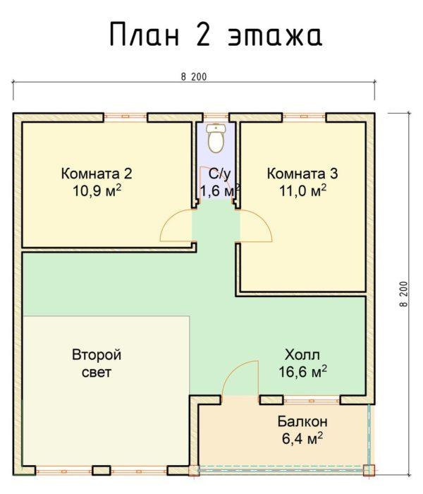 """bordo2 1 600x700 - Полуторный дом """"Бордо"""""""