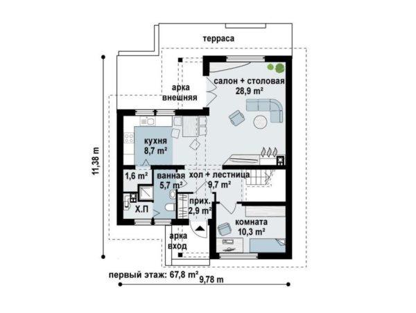 """Двухэтажный дом """"Дюссельдорф"""""""