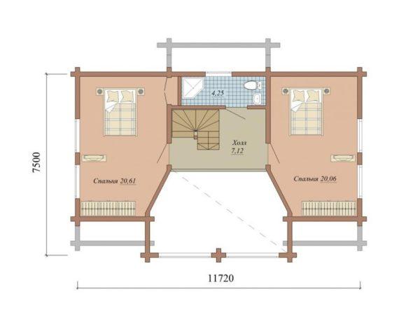 """Двухэтажный дом """"Ганновер"""""""