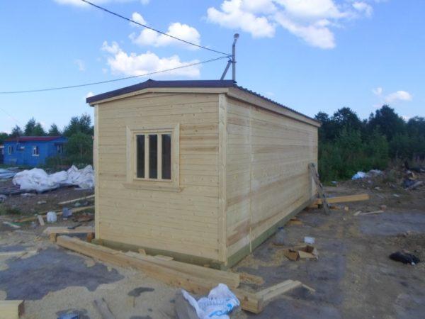 Мобильная баня 2.3х7м