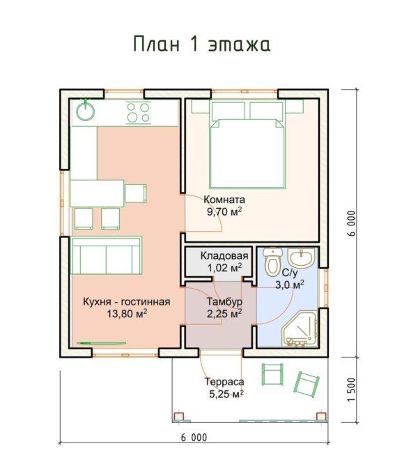 """iraklion1 1 600x667 - Полуторный дом """"Ираклион"""""""