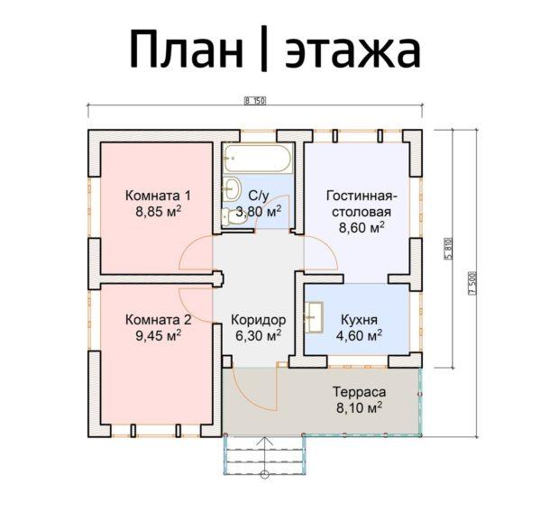 """jaroslavl1 1 600x567 - Полуторный дом """"Ярославль"""""""