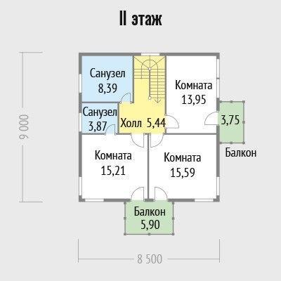 """Двухэтажный дом """"Эстаммар"""""""