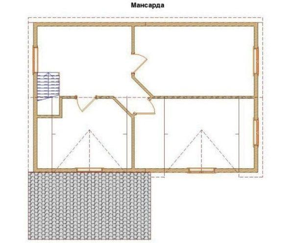 "Двухэтажный дом ""Касабланка"""