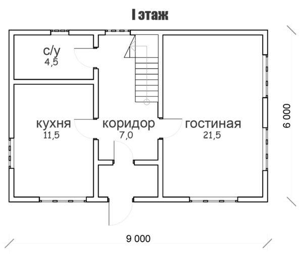 """Двухэтажный дом """"Кострома"""""""