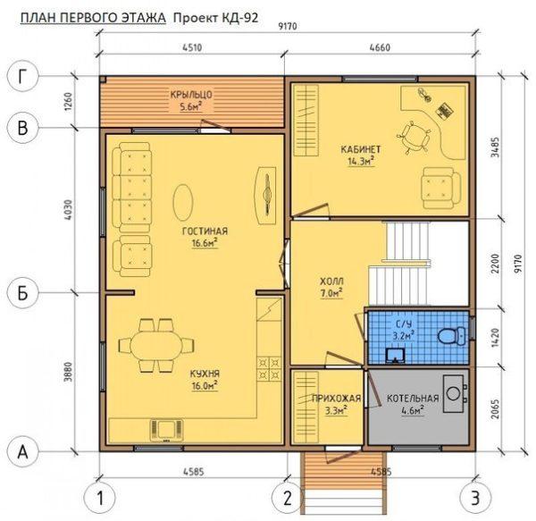 "Двухэтажный дом ""Сан-Марино"""